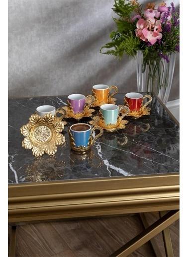 Dorelıne Damla Kahve Fincanı Renkli Fincanlı 6' Lı Kutu Renkli